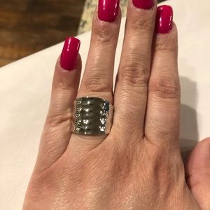 "EUC PREMIER DESIGNS ""SILVER REFLECTIONS"" RING"